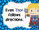 Super Hero Rules/Reminders
