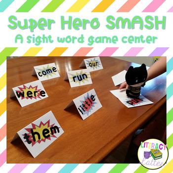 Super Hero SMASH: A Sight Word Game Center