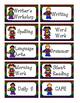 Super Hero Schedule Cards