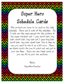 Super Hero Schedule Cards