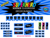 Super Hero Science Classroom Decor SET