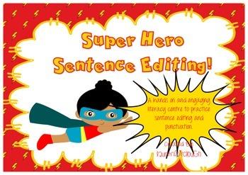 Super Hero Sentence Editing