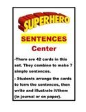 Super Hero Sentences Center