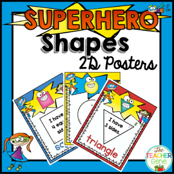 Super Hero Shape Posters {2D}