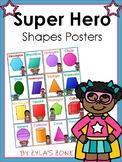 Super Hero Shape Posters