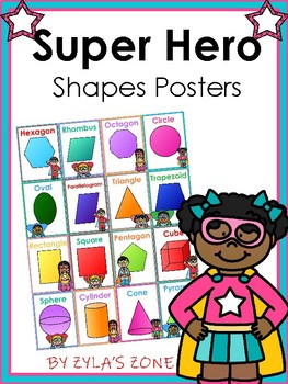 Super Hero Shape Posters