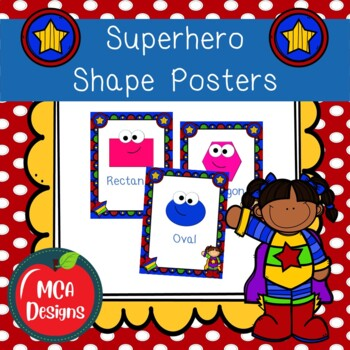 Super Hero - Shape Posters