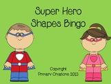 Super Hero Shapes Bingo 2D & 3D