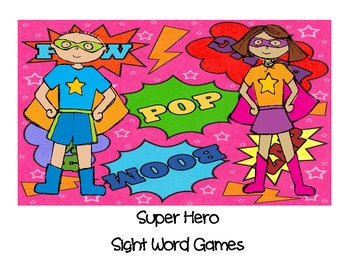 Super Hero Sight Word Games