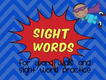 Super Hero Sight Word Pack