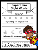 Super Hero Sight Words