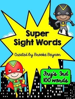 Super Hero Sight Words - Fry's Third 100