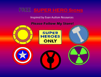 Super Hero Signs for Autism