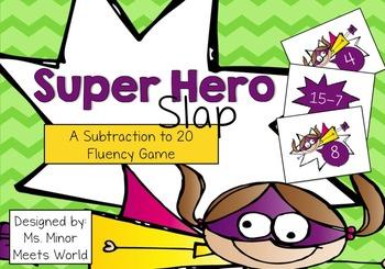 Super Hero Slap (Subtraction 10-20)