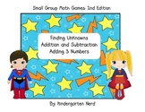 Super Hero Small Group Math Game: Finding Unknowns