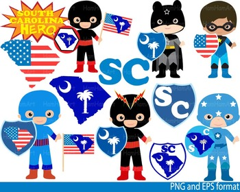 Super Hero South Carolina Clip Art school halloween shild