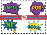 Super Hero Speech Bubble Clip Art (Commercial Use)