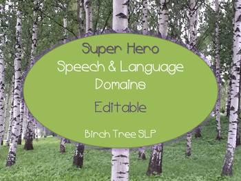 Super Hero Speech & Language Domain Banners