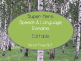 Super Hero Speech & Language Domain Banners