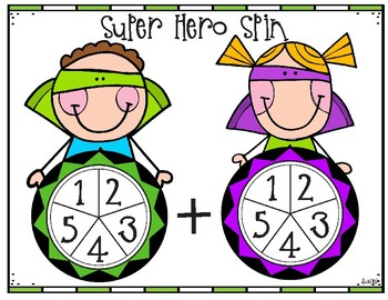 Super Hero Spin - Addition, Subtraction