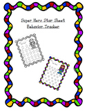 Super Hero Star Sheet Behavior Tracker