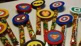Super Hero Sticks-Open House/Birthdays/Halloween  Nerds &