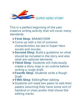 Super Hero Story Lesson Plan