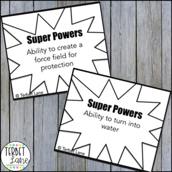 Super Hero Story Starters  Creative Writing Prompt Cards