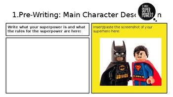 Super Hero Story Template