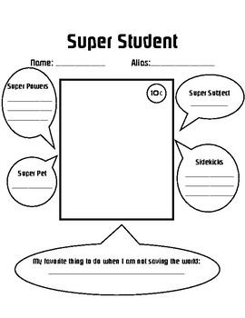 Super Hero Student Introduction Page