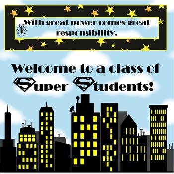 Super Hero Students Poster