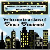 Super Hero Students Poster