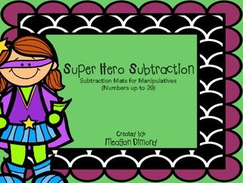 Super Hero Subtraction Mats