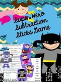 Super Hero Subtraction Sticks