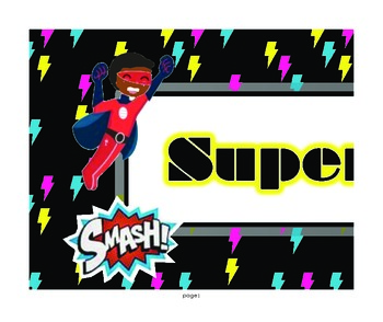 Super Hero Super Work Banner Board Title