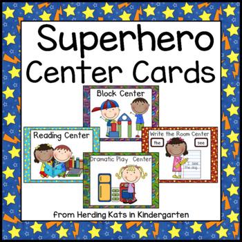 Super Hero Superhero Themed Pocket Chart  Center Cards