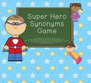 Super Hero Synonym Game