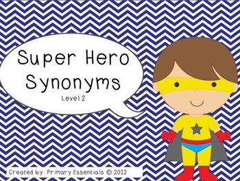 Super Hero Synonyms Level 2