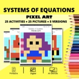 Super Hero: Systems of Equations Pixel Art