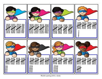 Super Hero TALLY BAM! TOP THAT! Math Game