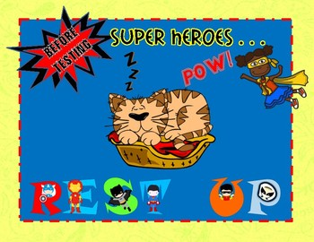 Super Hero TEST TAKING Bulletin Board