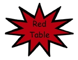 Super Hero Table Groups