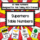 Super Hero Table Numbers