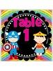 Super Hero Table Signs *glittery rainbow*