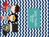 Super Hero Teacher Weekly Planner Cover!!