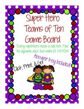 Super Hero Teams of Ten Game