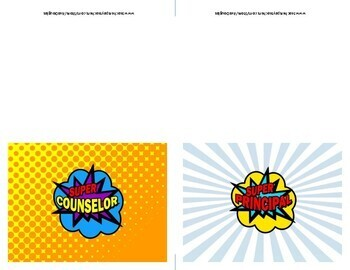 Super Hero Educator Folded Card
