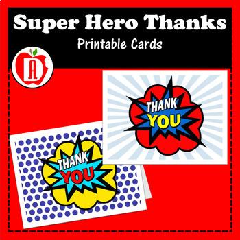 Super Hero Thank You Folded Card