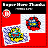 Super Hero Thank You Folded Card
