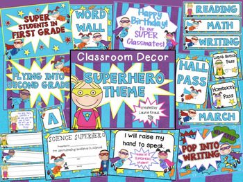 Superhero Theme - Classroom Decor